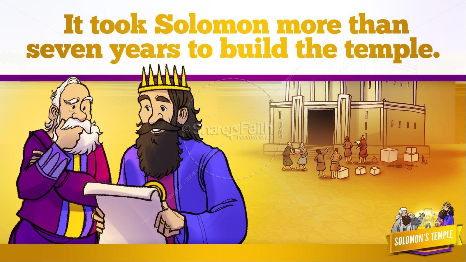 1 Kings 8 Solomon's Temple Kids Bible Story | slide 24