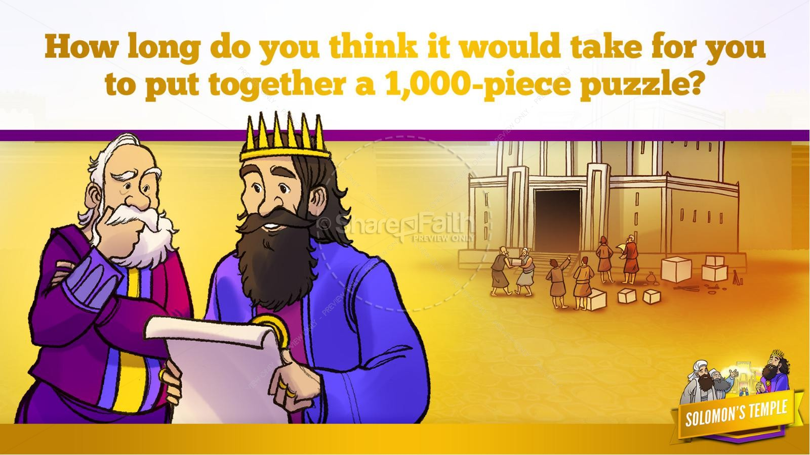 1 Kings 8 Solomon's Temple Kids Bible Story | slide 25