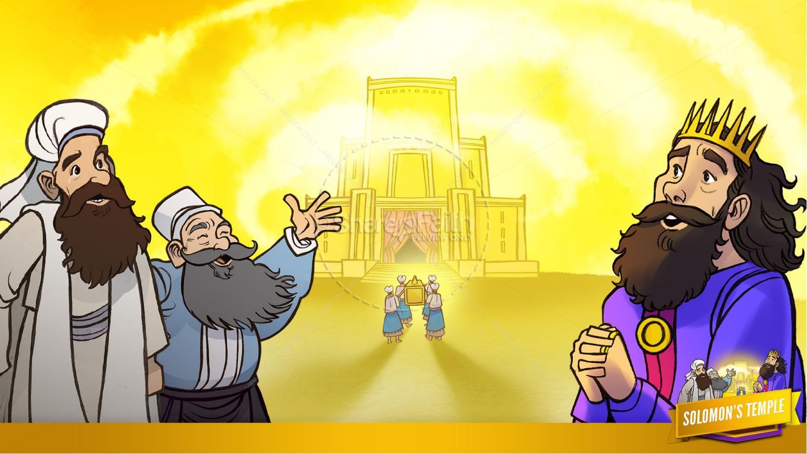 1 Kings 8 Solomon's Temple Kids Bible Story | slide 26
