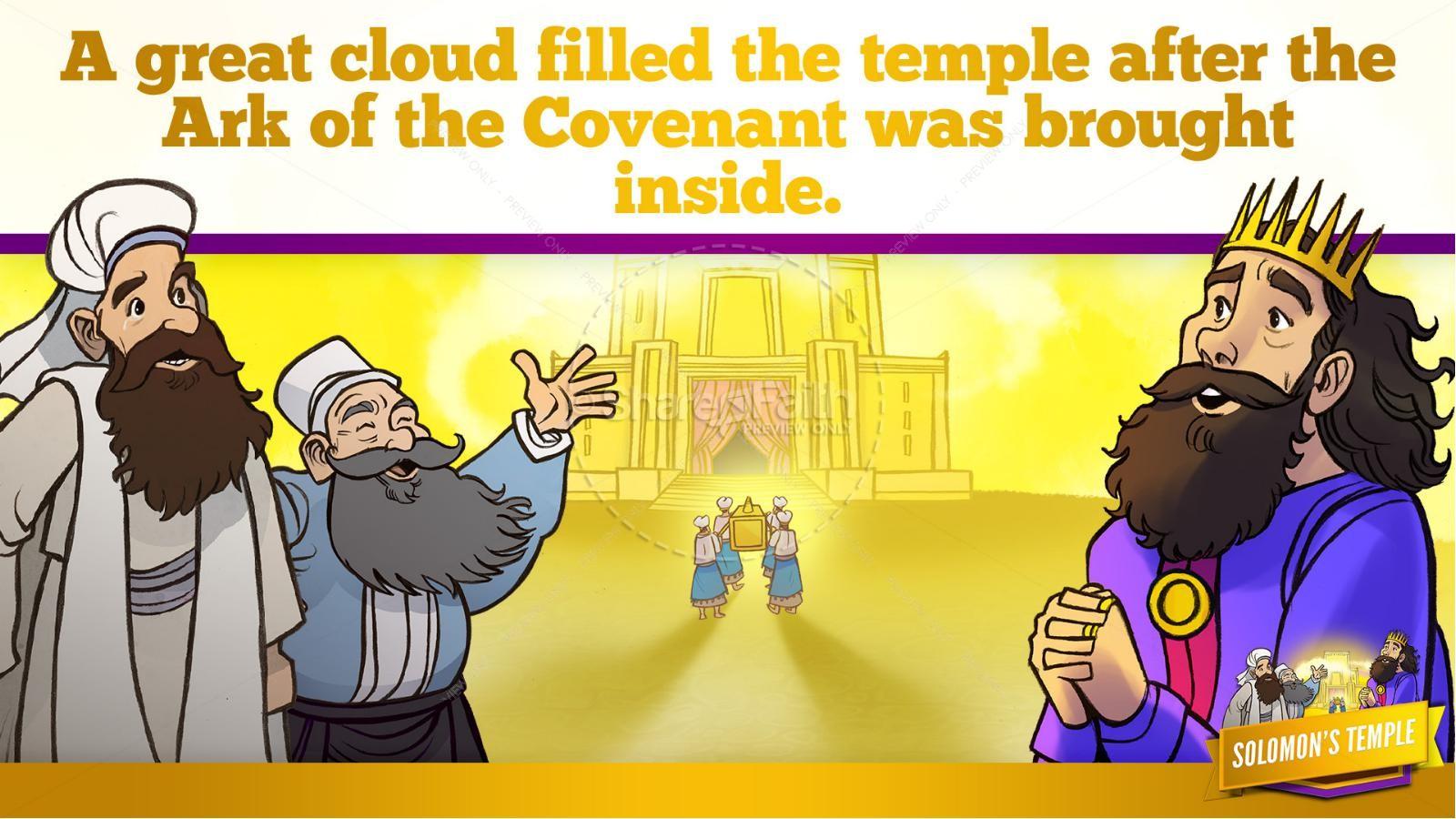 1 Kings 8 Solomon's Temple Kids Bible Story | slide 28