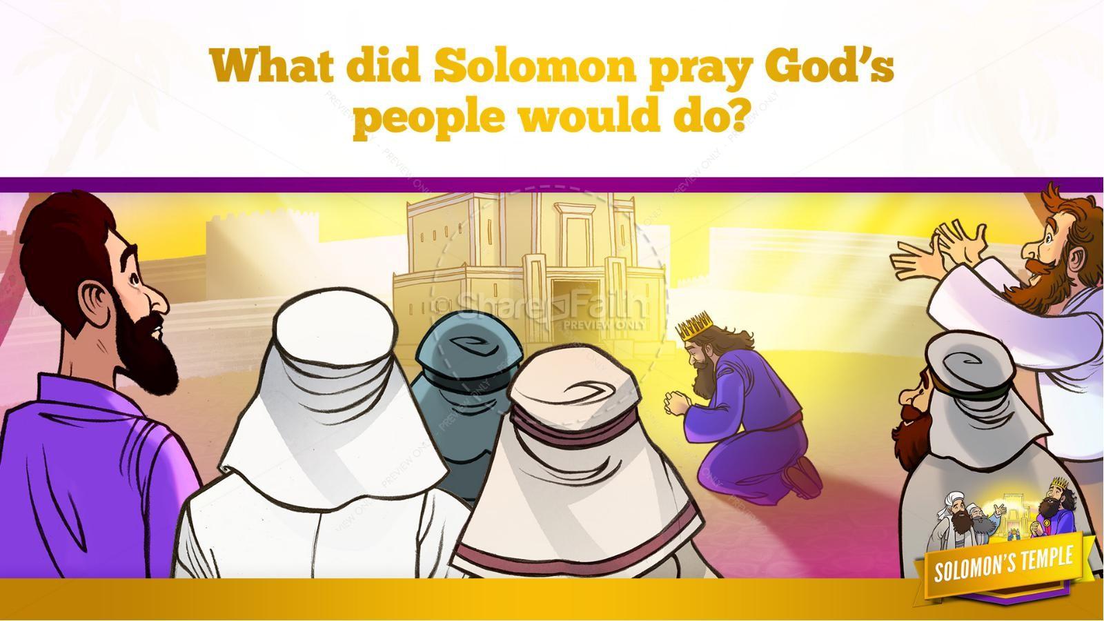 1 Kings 8 Solomon's Temple Kids Bible Story | slide 31
