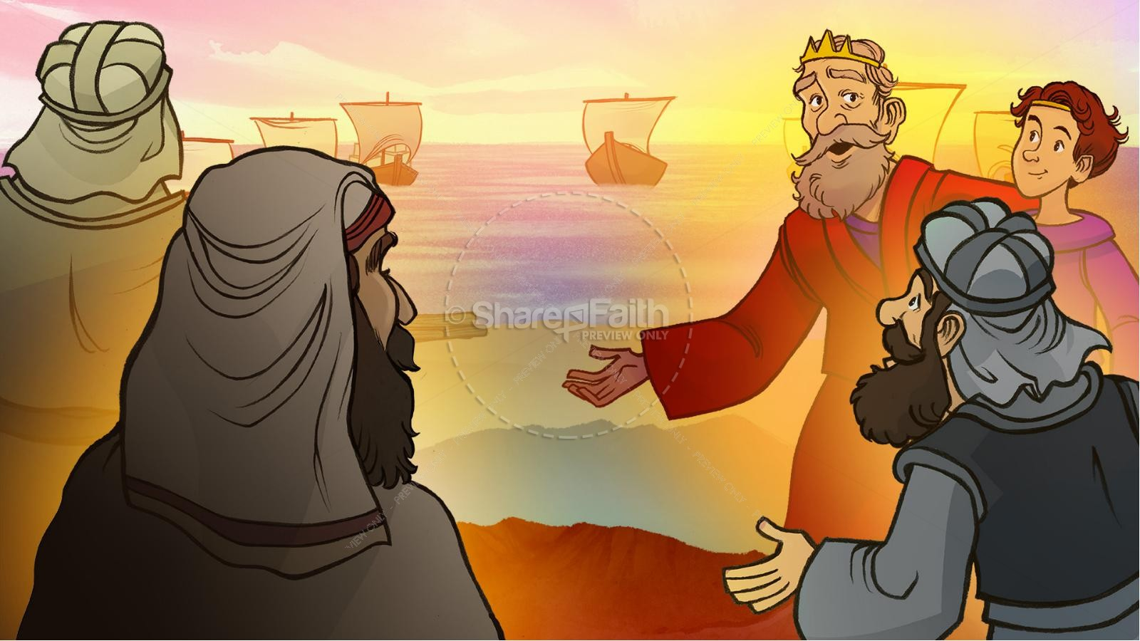 1 Kings 8 Solomon's Temple Kids Bible Story | slide 4