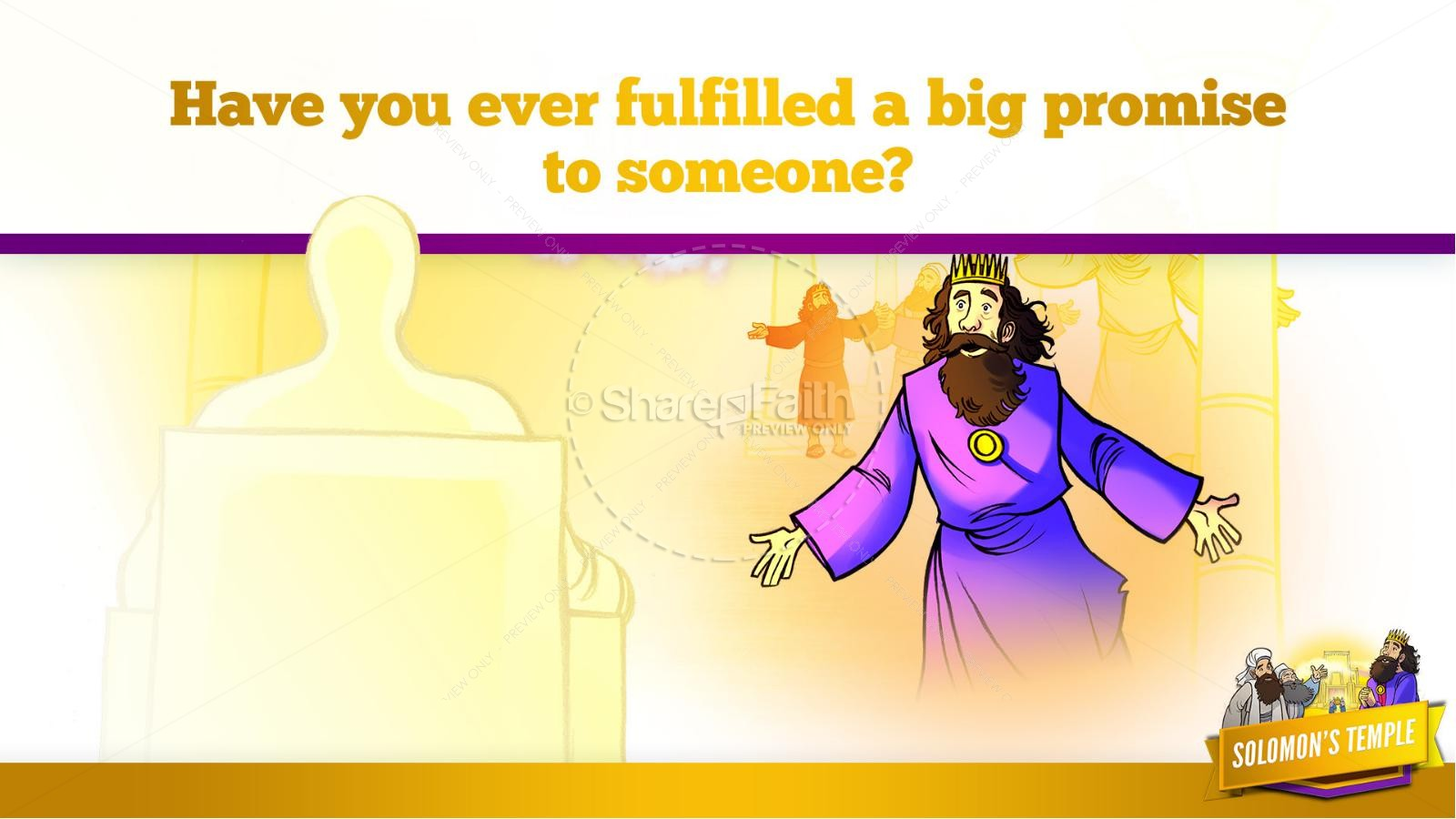 1 Kings 8 Solomon's Temple Kids Bible Story | slide 37