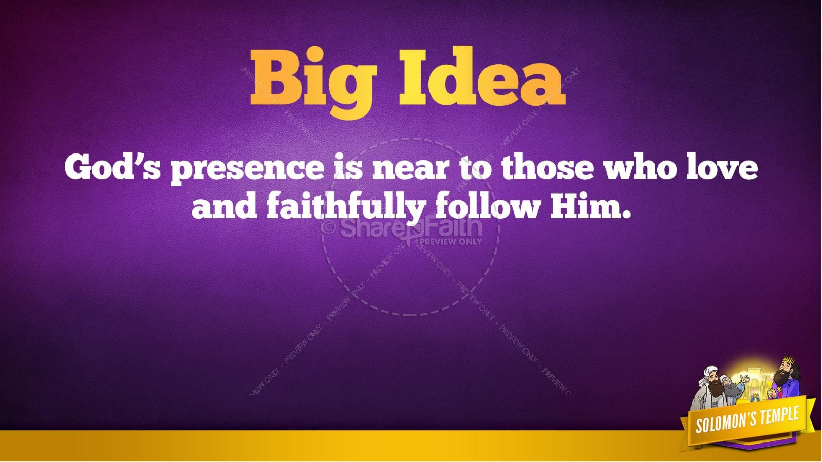 1 Kings 8 Solomon's Temple Kids Bible Story | slide 38