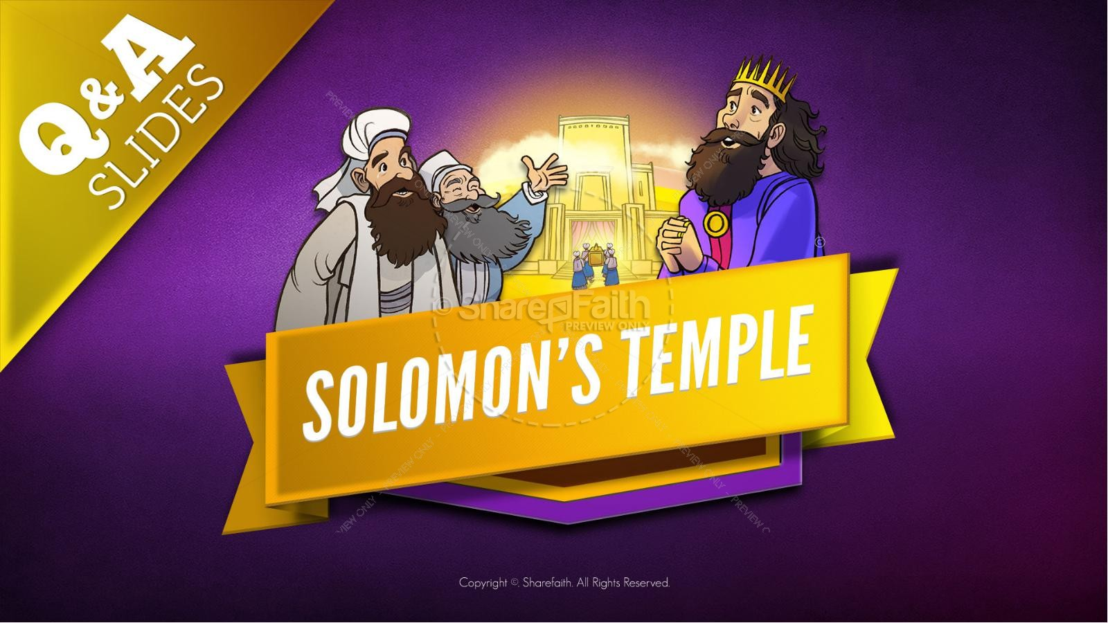 1 Kings 8 Solomon's Temple Kids Bible Story | slide 9