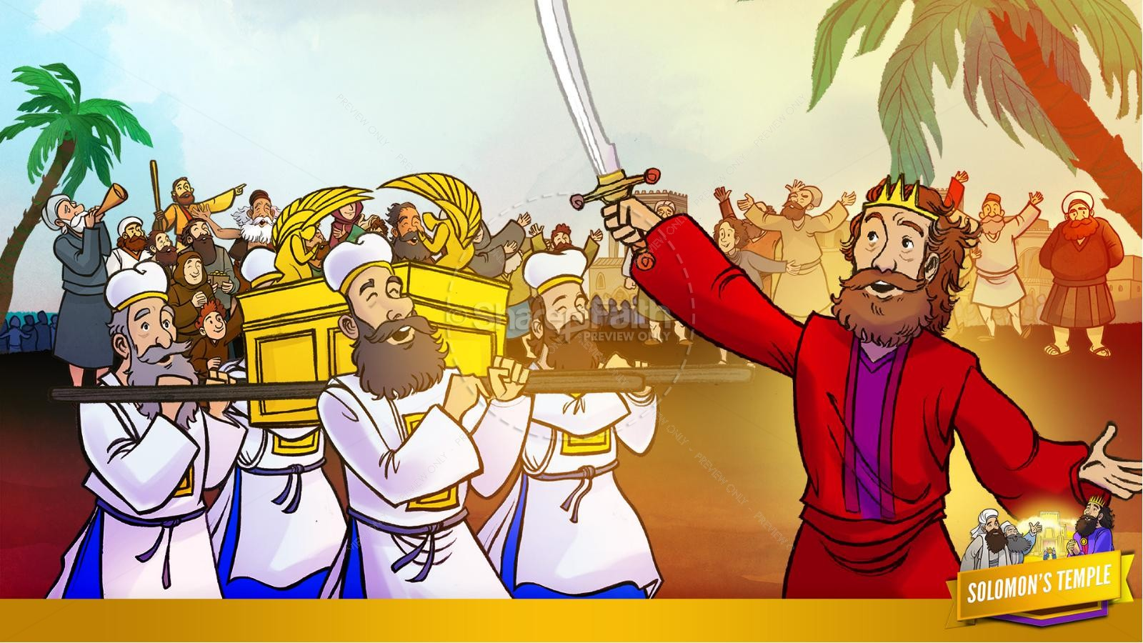 1 Kings 8 Solomon's Temple Kids Bible Story | slide 10