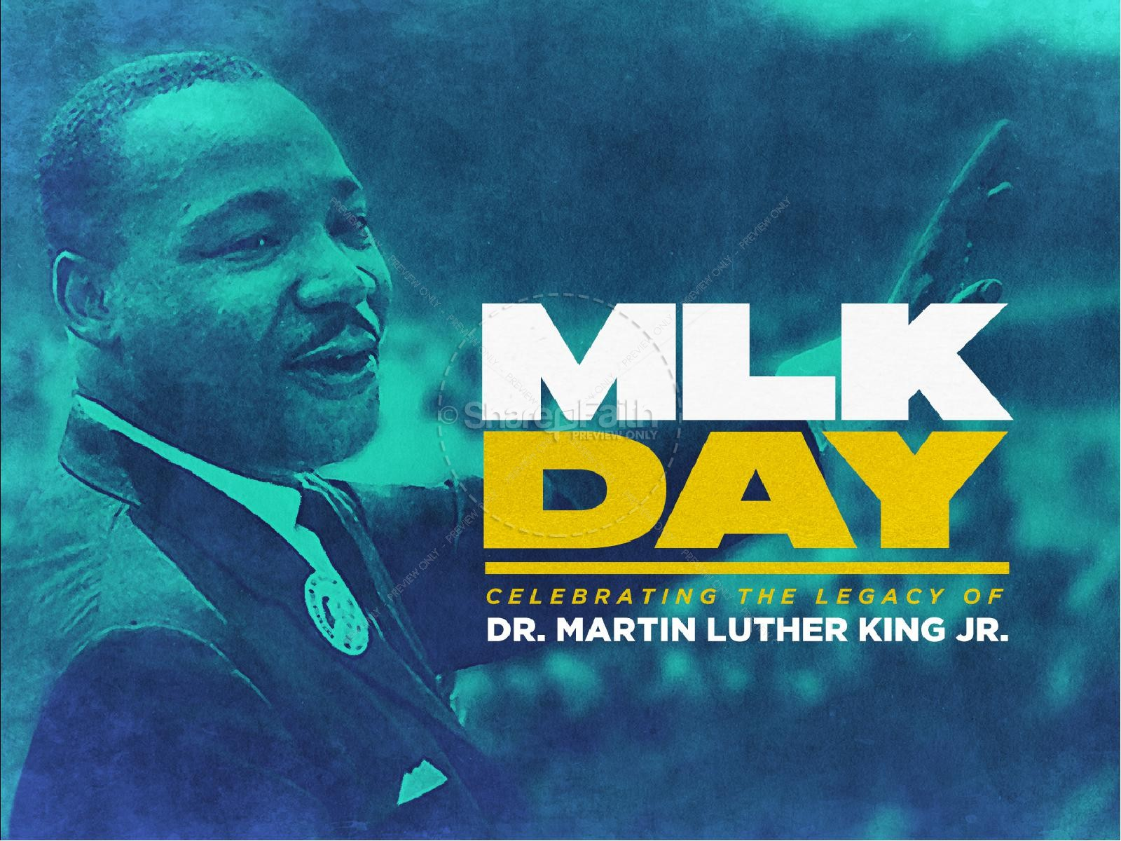 Martin Luther King Jr Day Service Graphic | slide 1