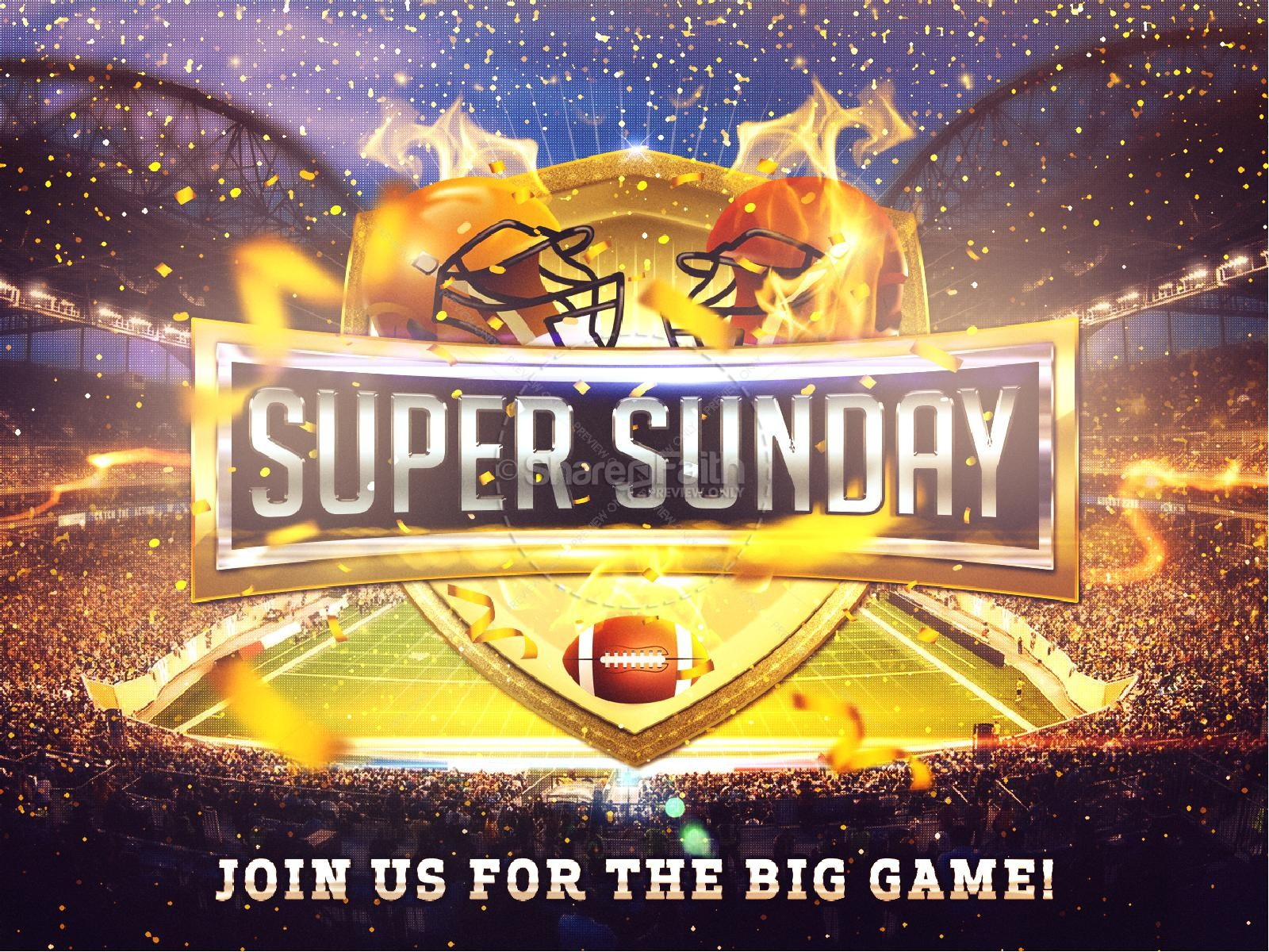 Super Sunday Stadium Graphic Design