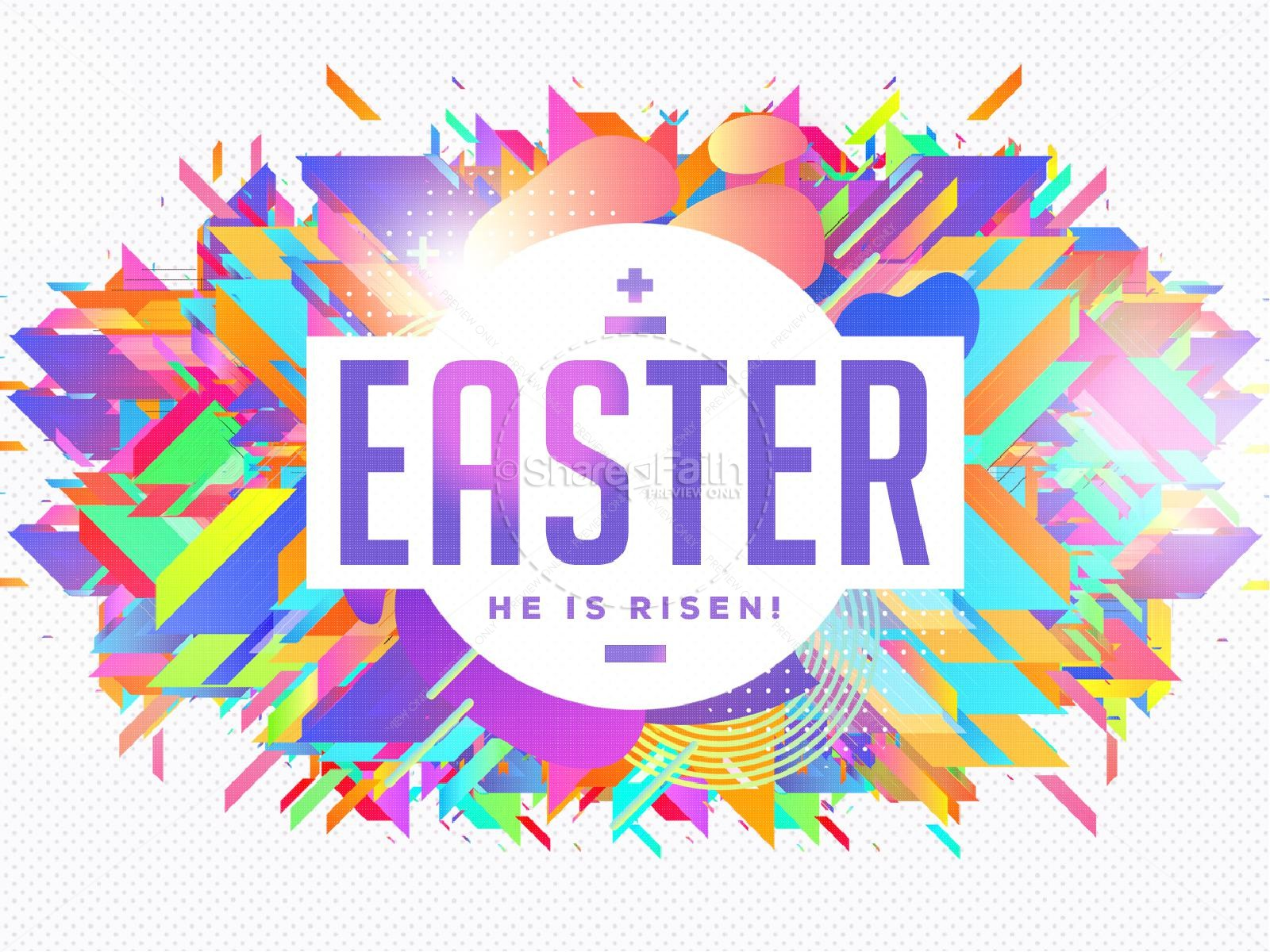 Church Easter Service PowerPoint | slide 1
