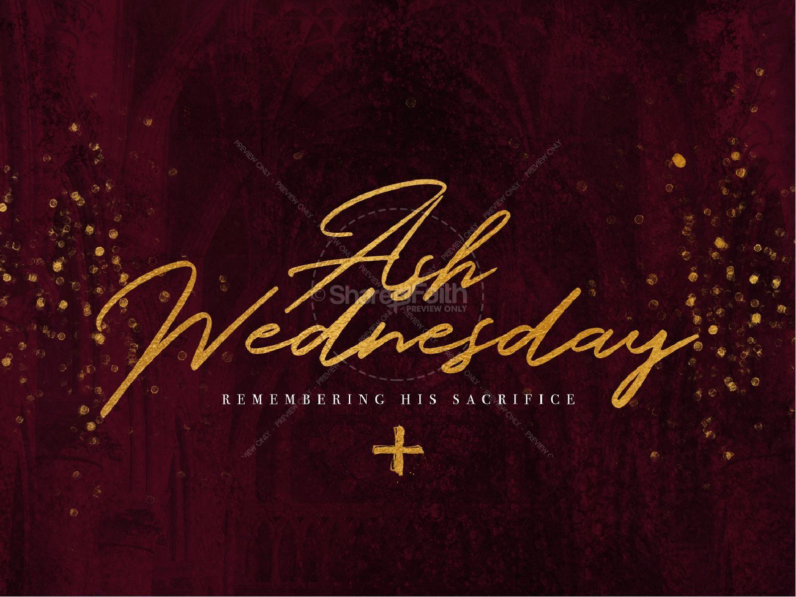 Ash Wednesday Season Of Lent Graphic Design | slide 2