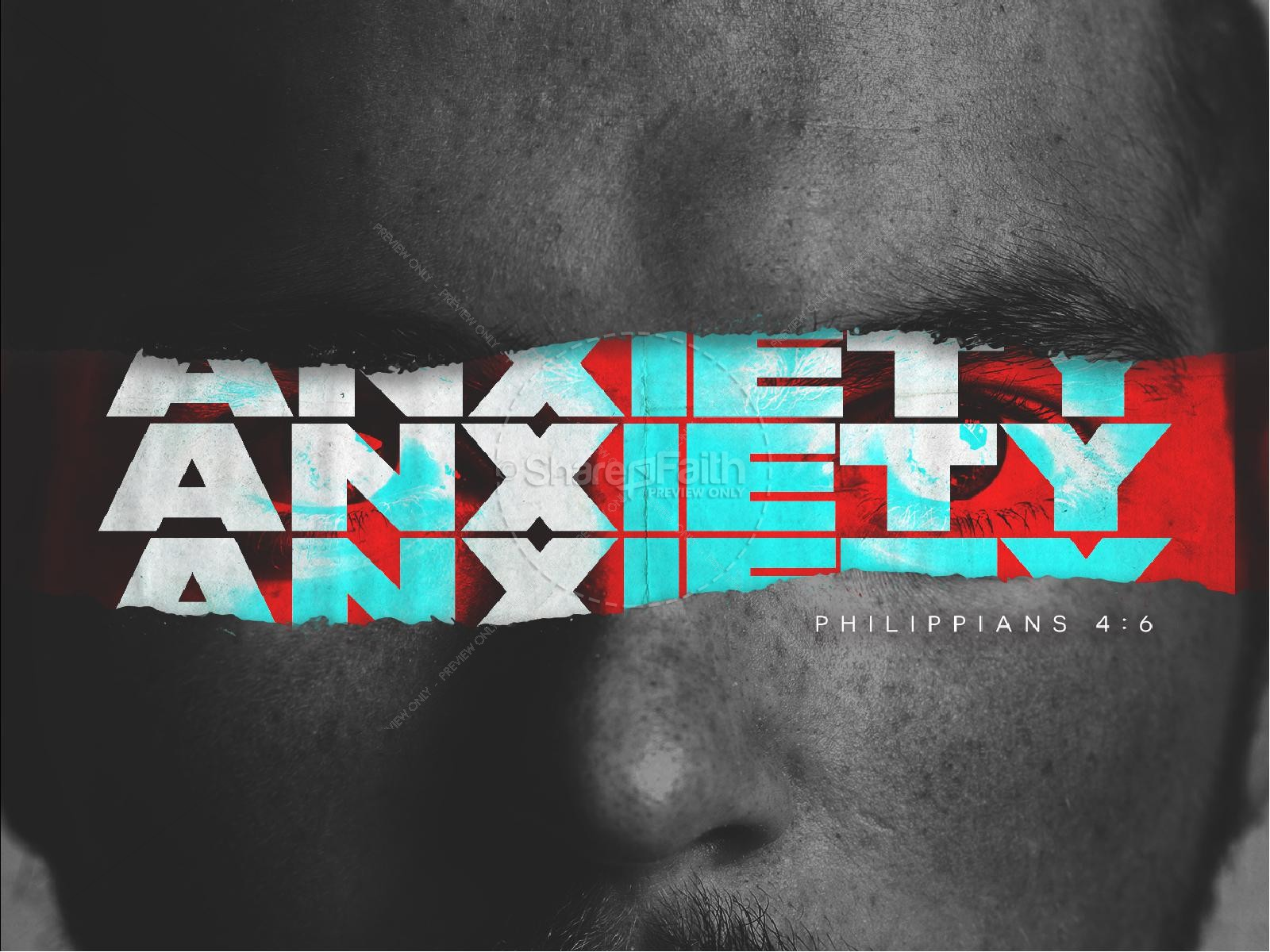 Anxiety Church Service Sermon PowerPoint | slide 1