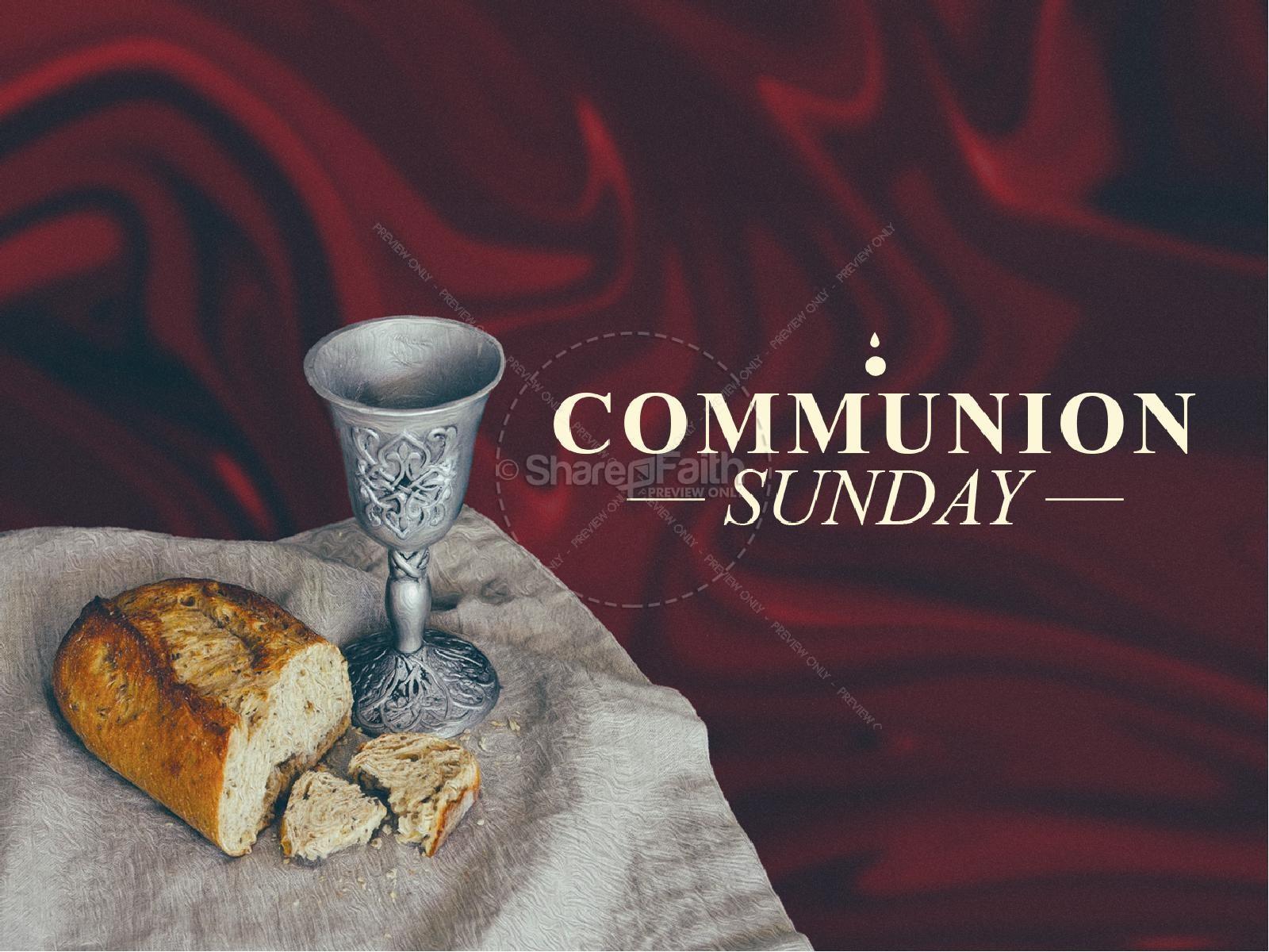 Communion Sunday Service Title Graphic | slide 1
