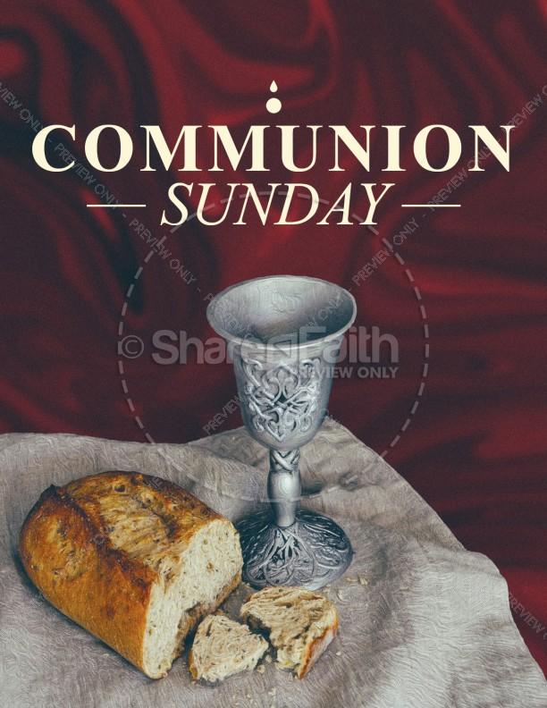 Communion Sunday Service Flyer Template | page 1