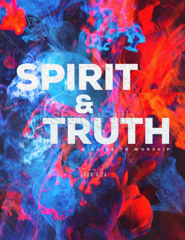 Spirit And Truth Worship Service Flyer | page 1