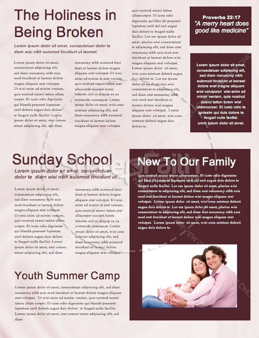 Communion Sunday Newsletter Template | page 2