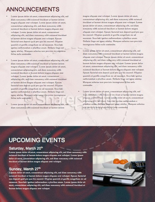Communion Sunday Newsletter Template   page 4