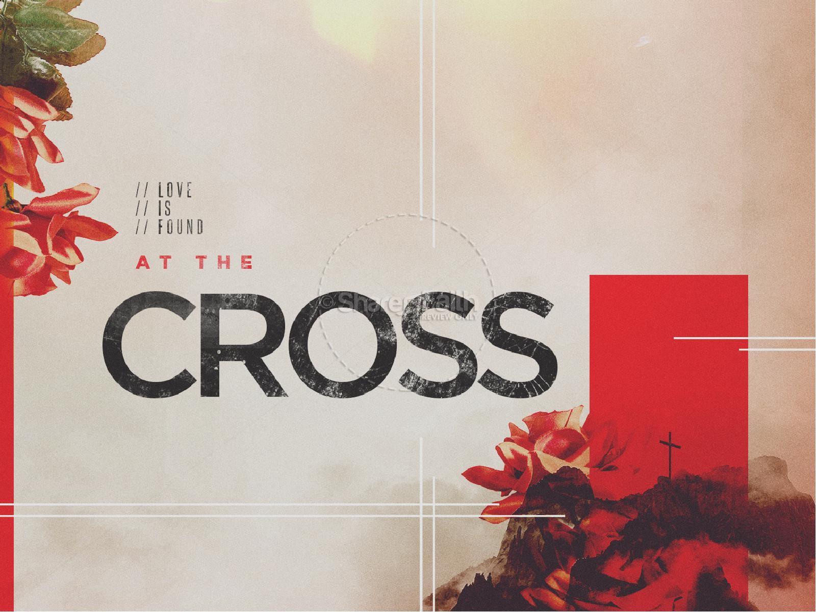 At The Cross Sermon Title Graphic | slide 1