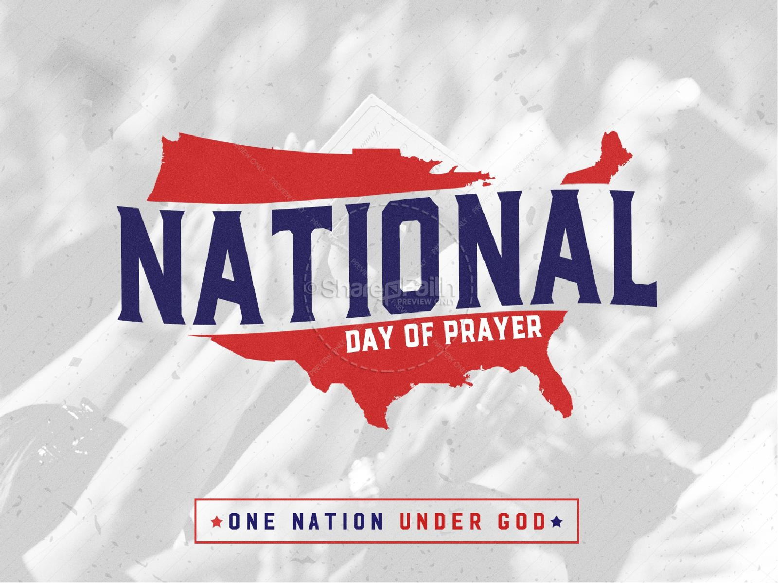 American National Day of Prayer Graphic Design | slide 1