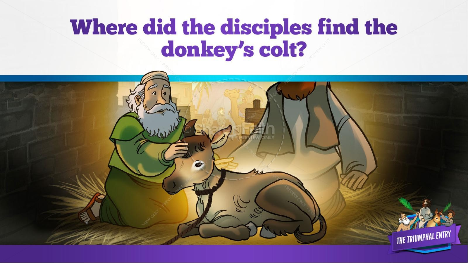 Luke 19 The Triumphal Entry Kids Bible Story | slide 19