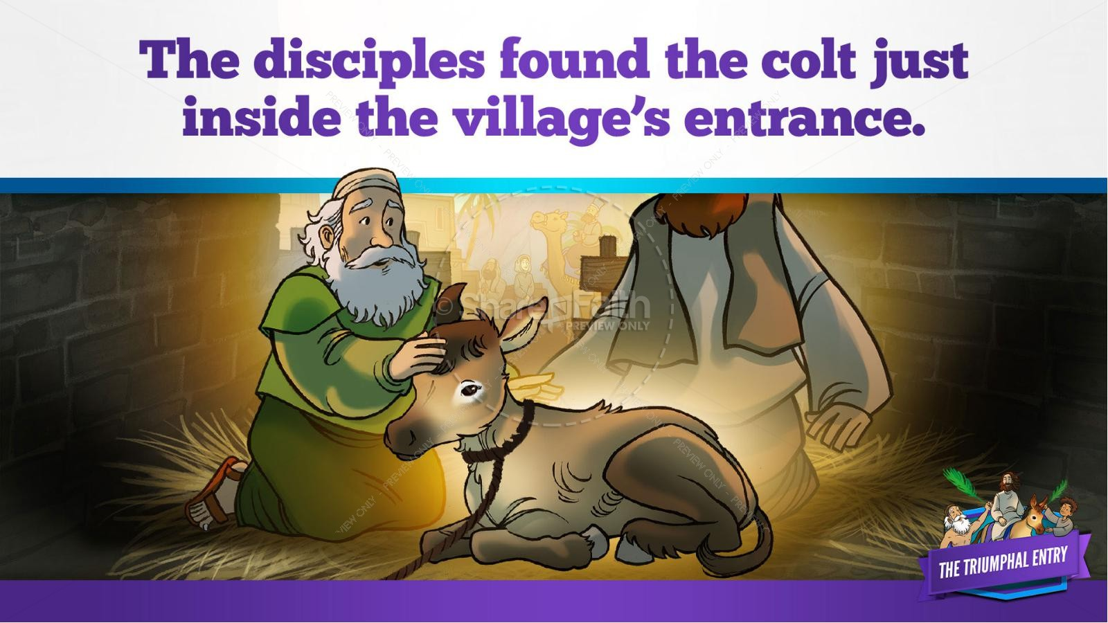 Luke 19 The Triumphal Entry Kids Bible Story | slide 20