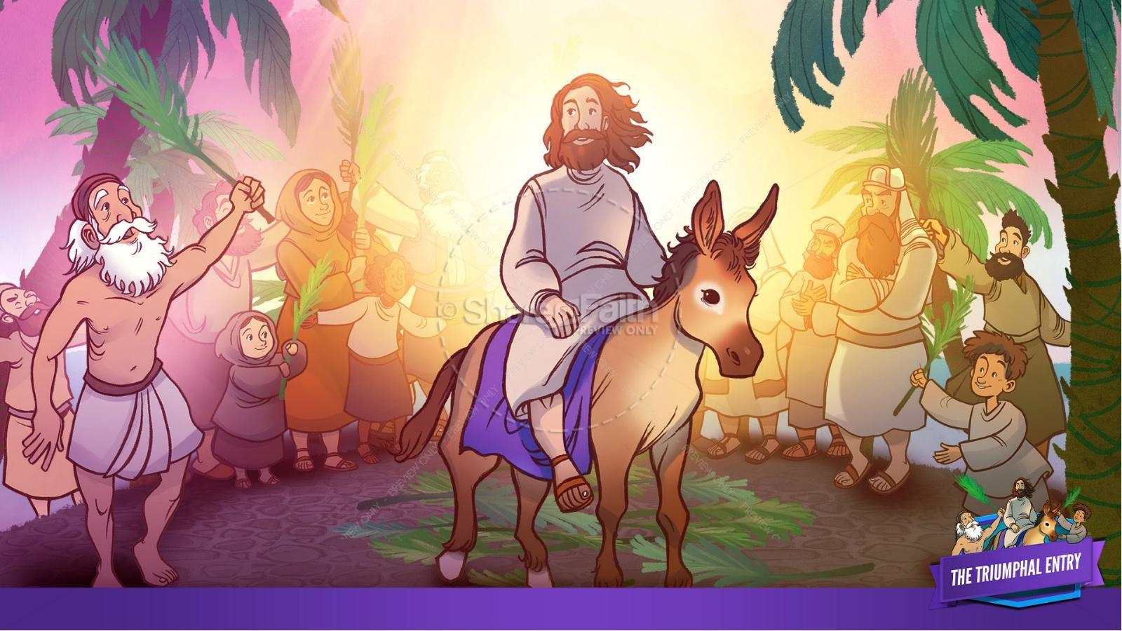 Luke 19 The Triumphal Entry Kids Bible Story | slide 26