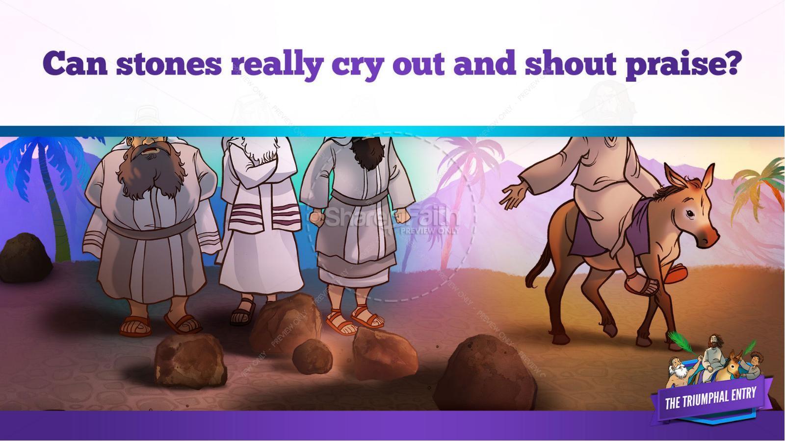 Luke 19 The Triumphal Entry Kids Bible Story   slide 33