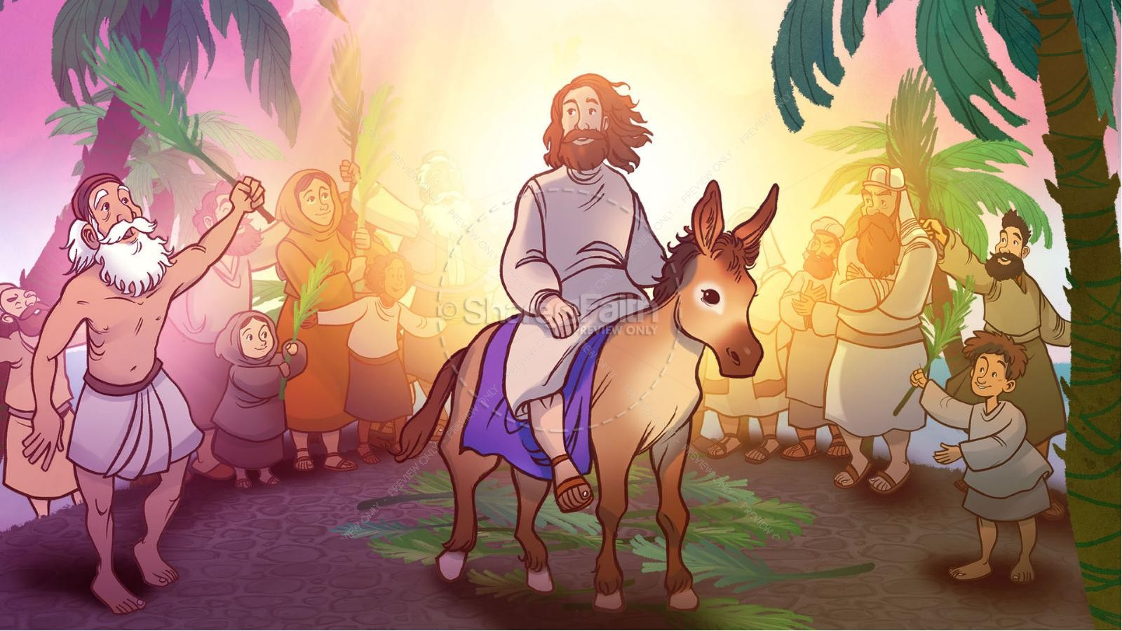 Luke 19 The Triumphal Entry Kids Bible Story | slide 6