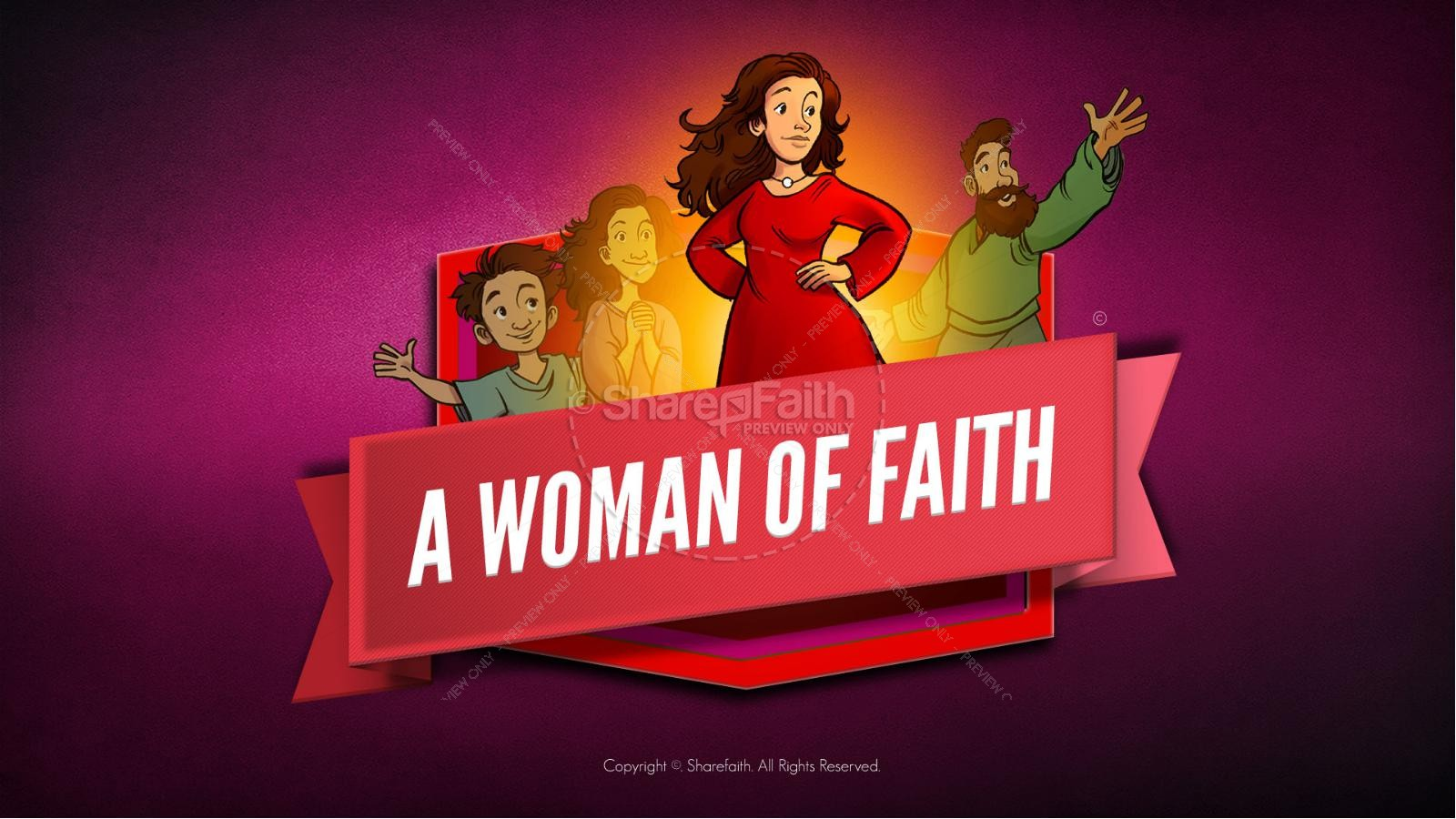 Proverbs 31 A Woman of Faith Kids Bible Story | slide 1