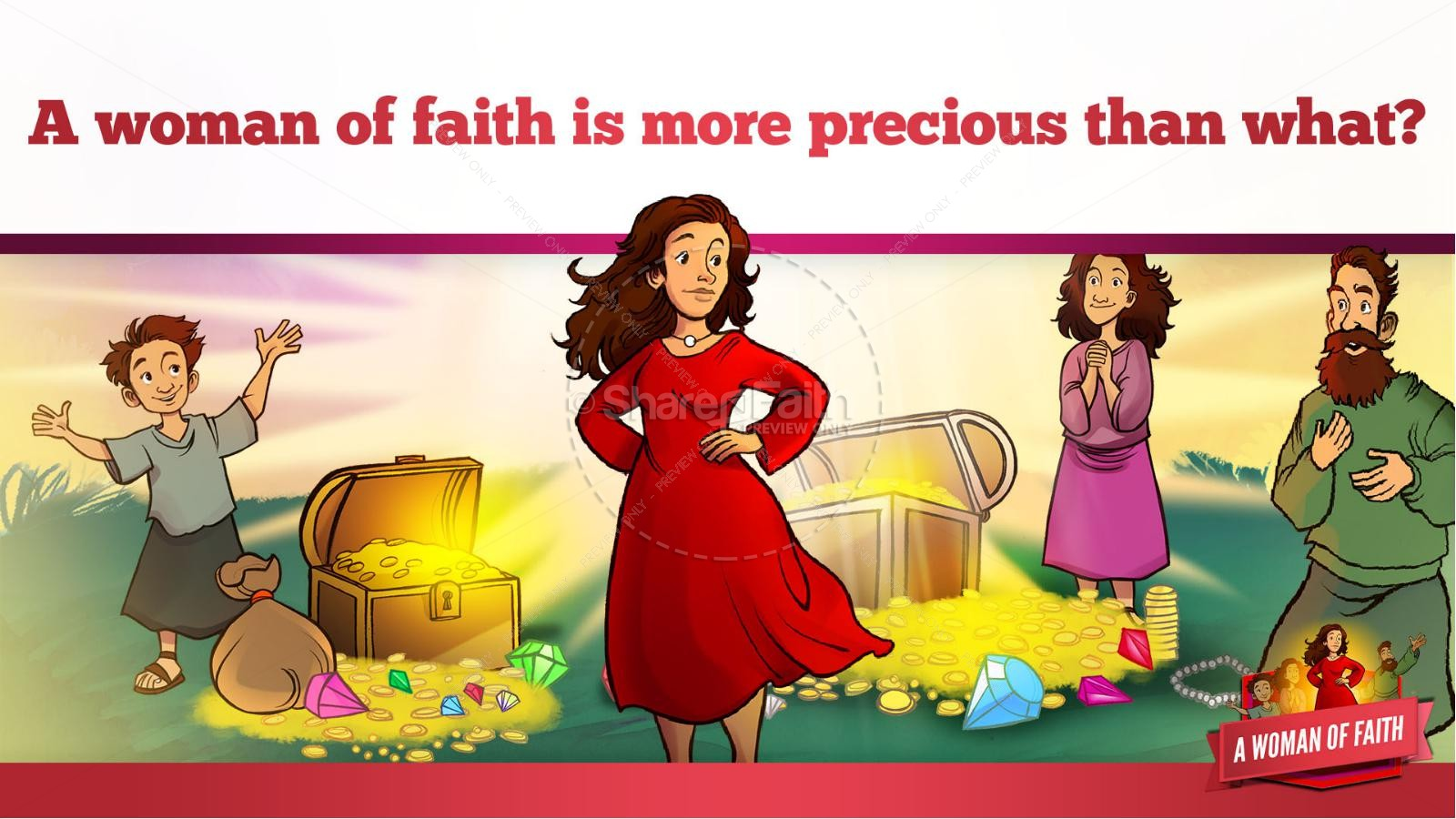 Proverbs 31 A Woman of Faith Kids Bible Story | slide 11