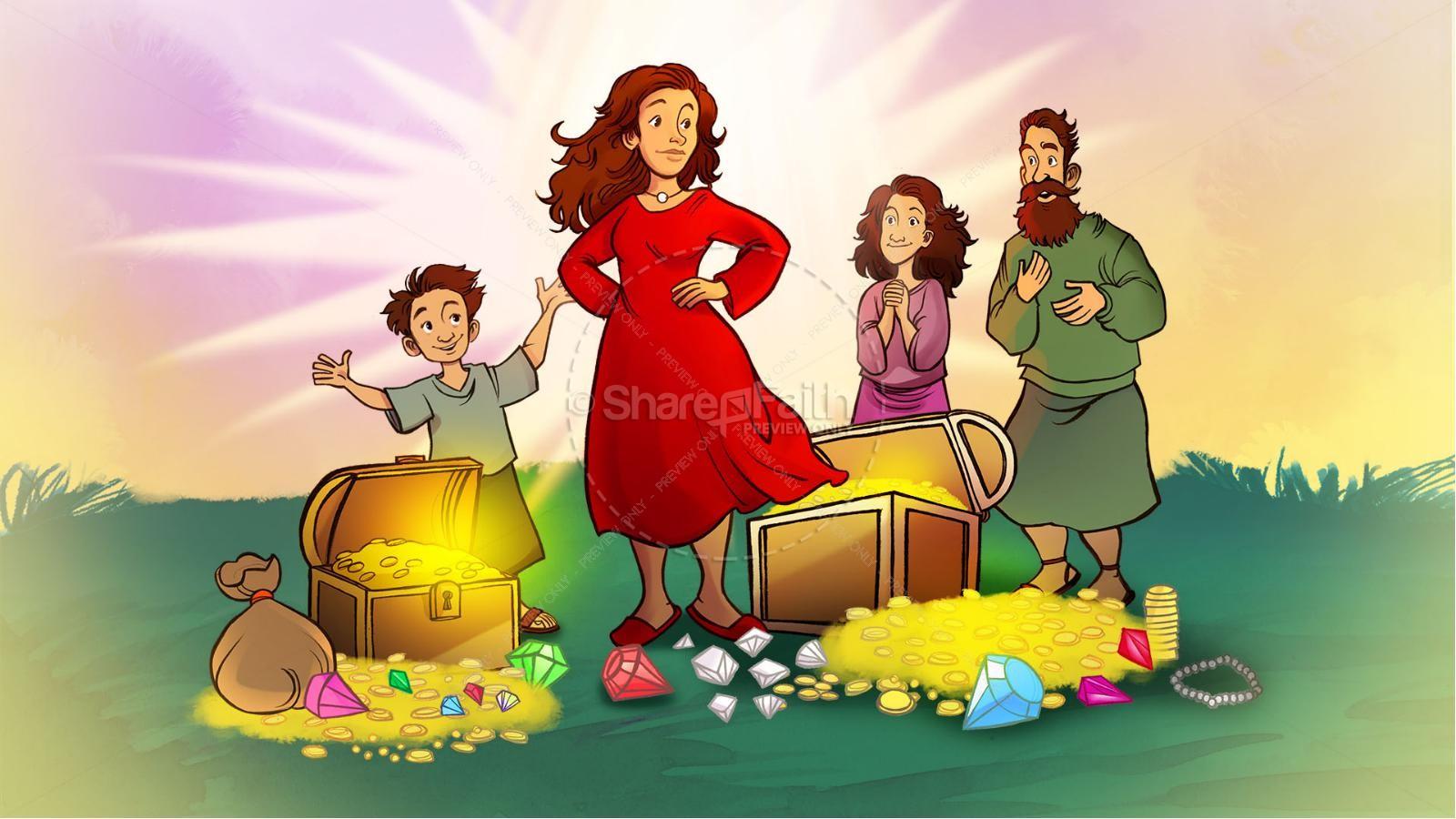 Proverbs 31 A Woman of Faith Kids Bible Story | slide 2