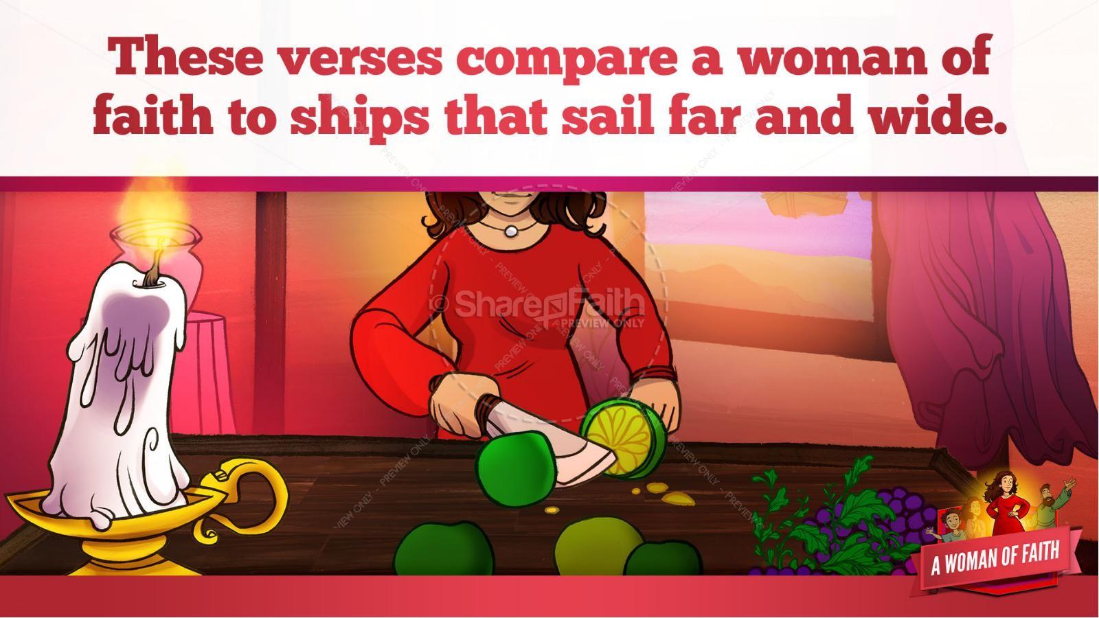 Proverbs 31 A Woman of Faith Kids Bible Story   slide 16