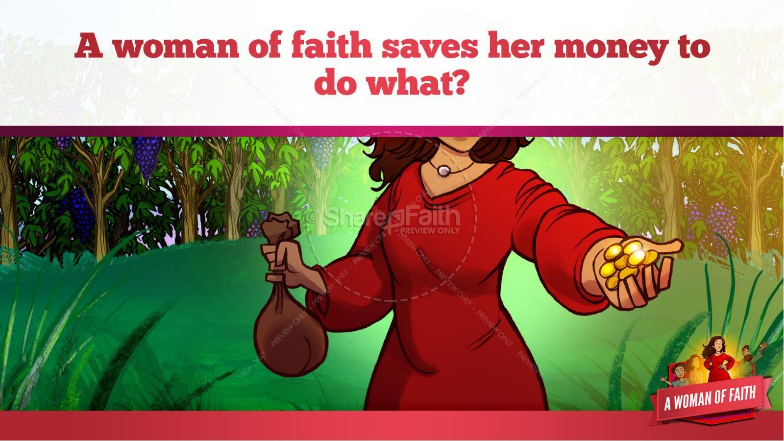 Proverbs 31 A Woman of Faith Kids Bible Story   slide 19