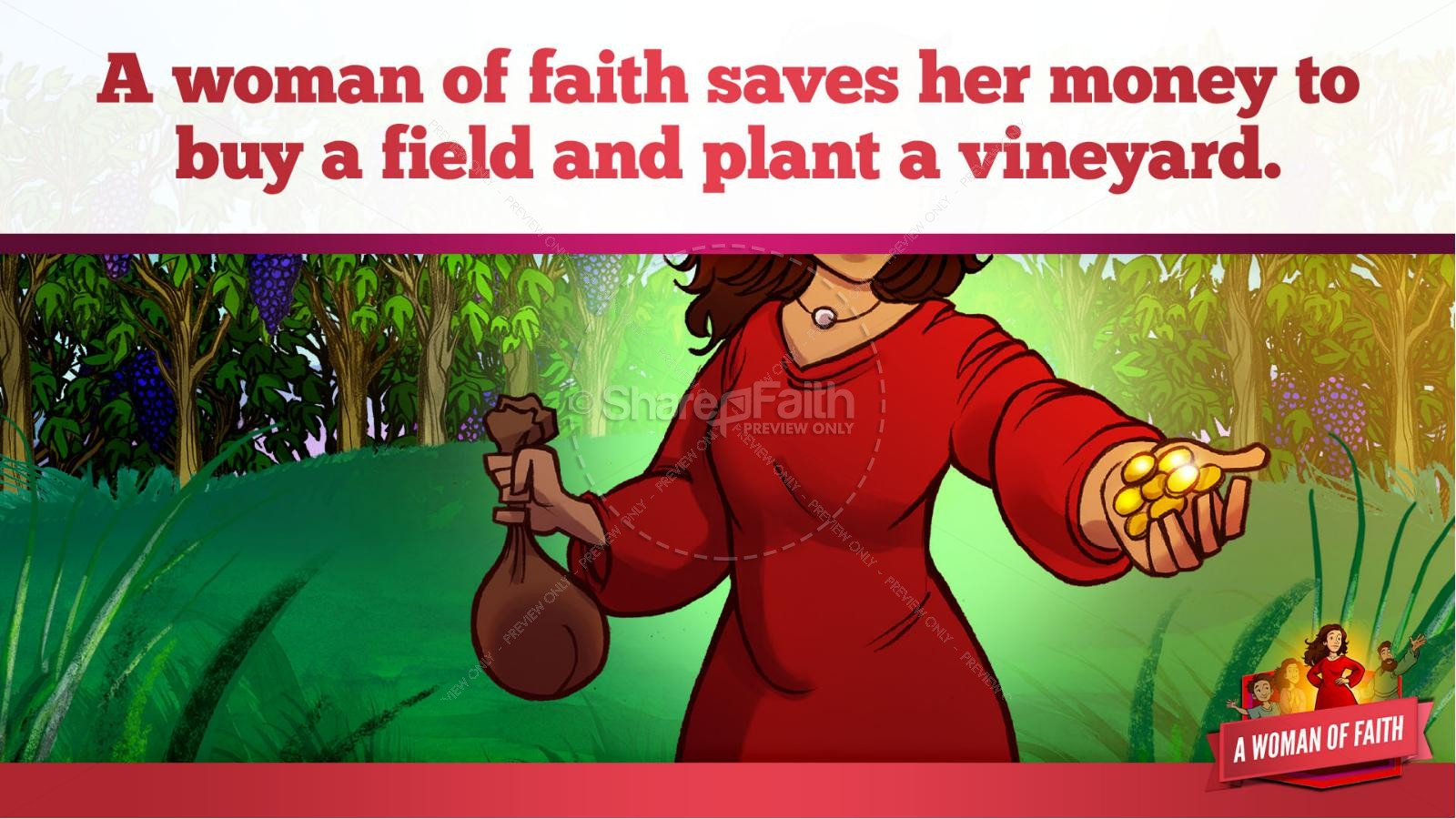 Proverbs 31 A Woman of Faith Kids Bible Story | slide 20