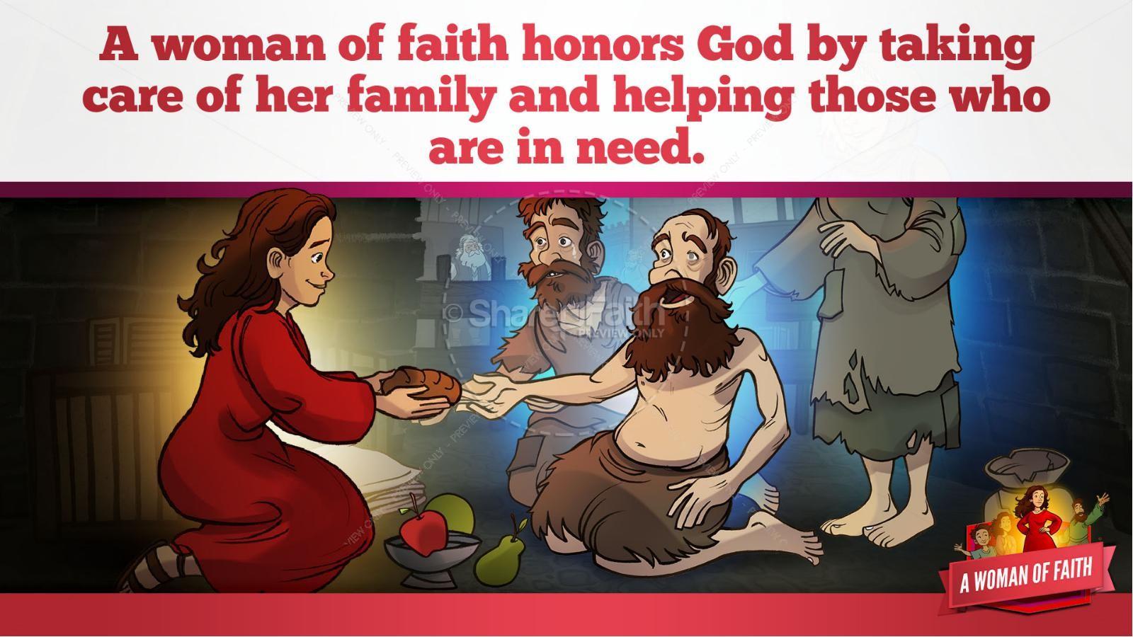 Proverbs 31 A Woman of Faith Kids Bible Story | slide 24