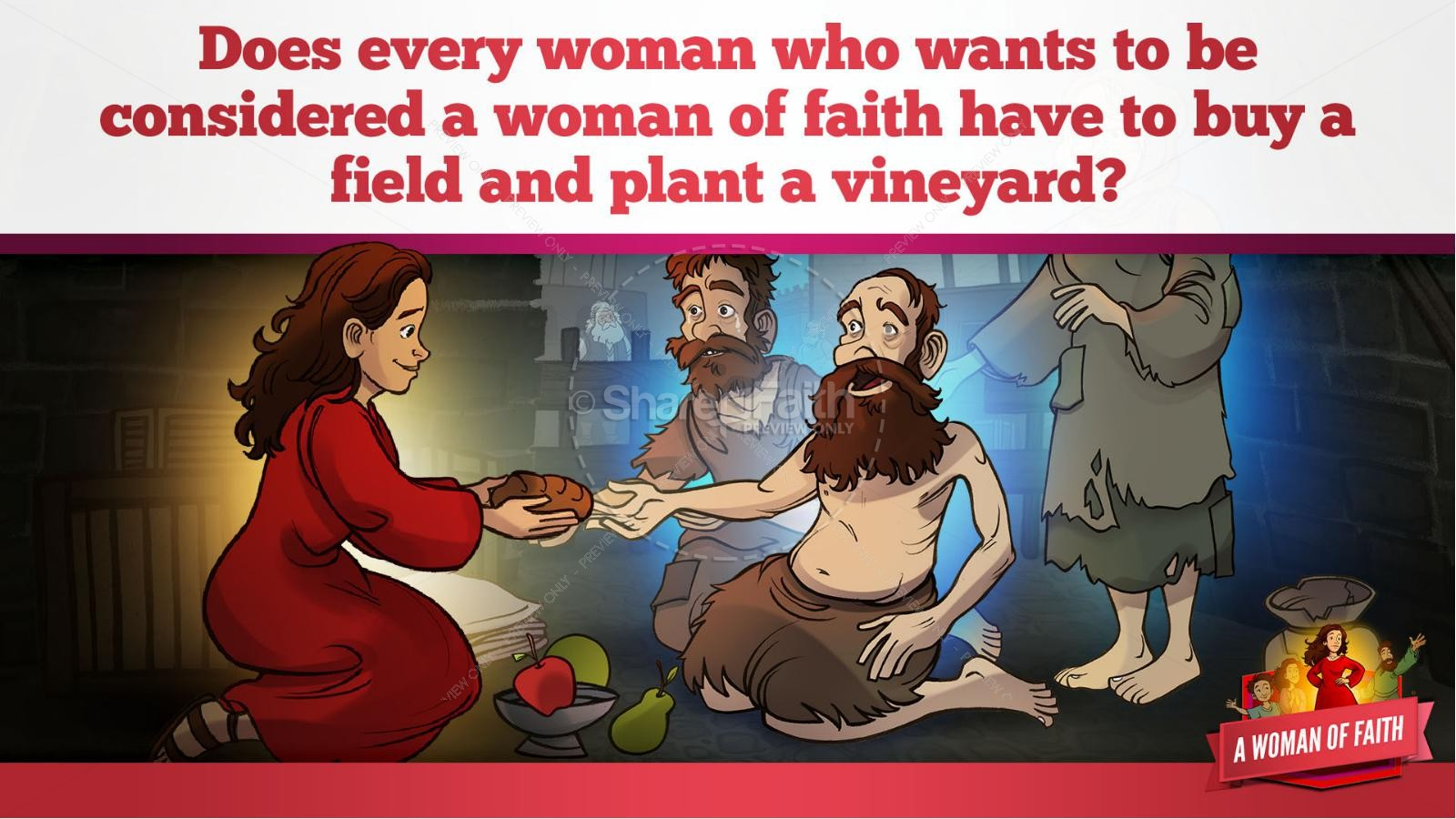 Proverbs 31 A Woman of Faith Kids Bible Story | slide 25