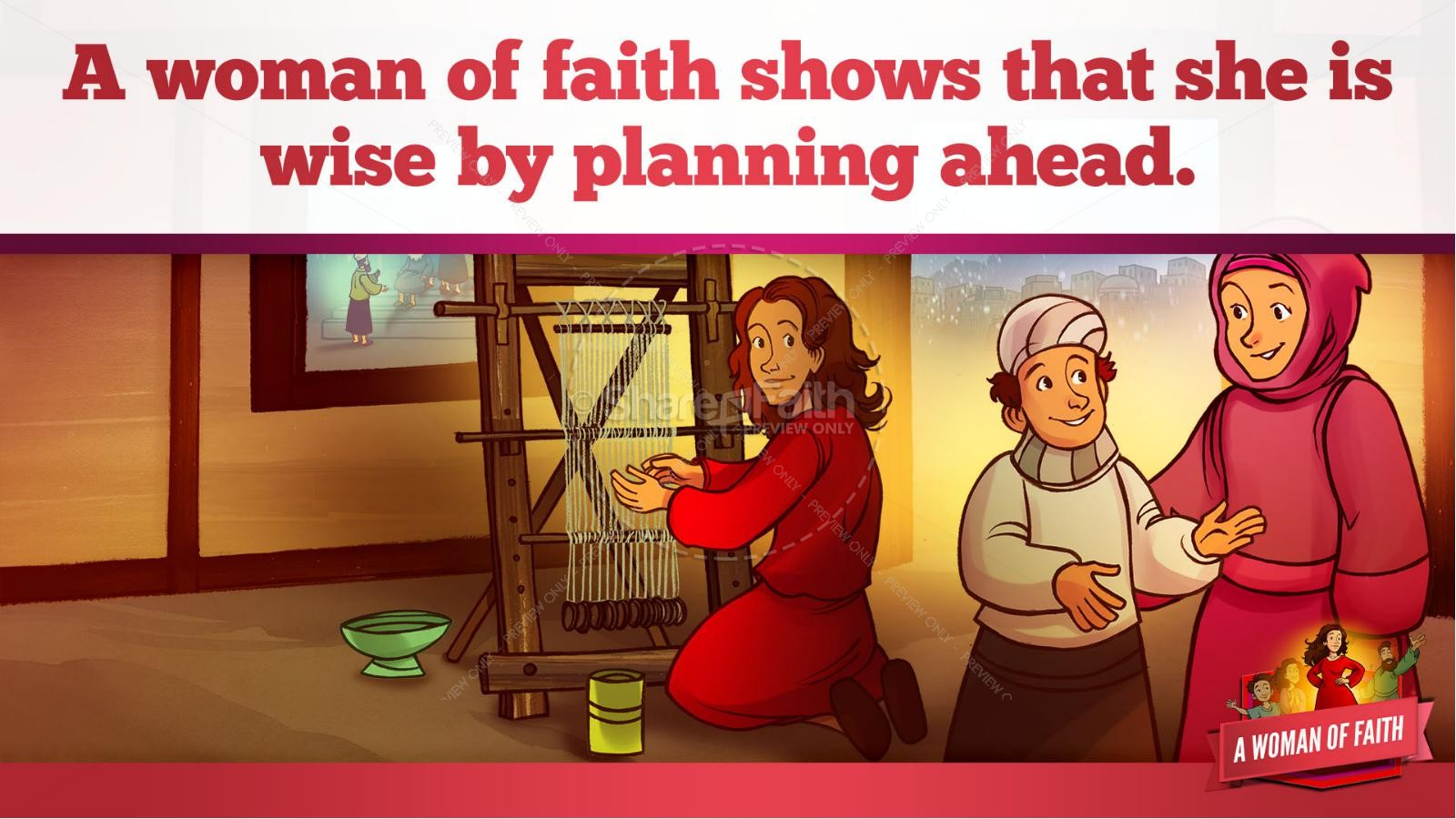 Proverbs 31 A Woman of Faith Kids Bible Story | slide 28