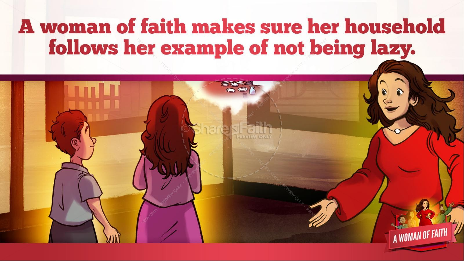 Proverbs 31 A Woman of Faith Kids Bible Story | slide 32