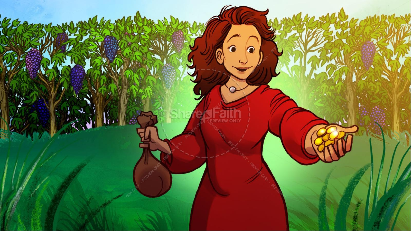 Proverbs 31 A Woman of Faith Kids Bible Story | slide 4