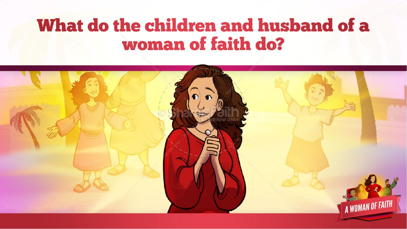 Proverbs 31 A Woman of Faith Kids Bible Story | slide 35