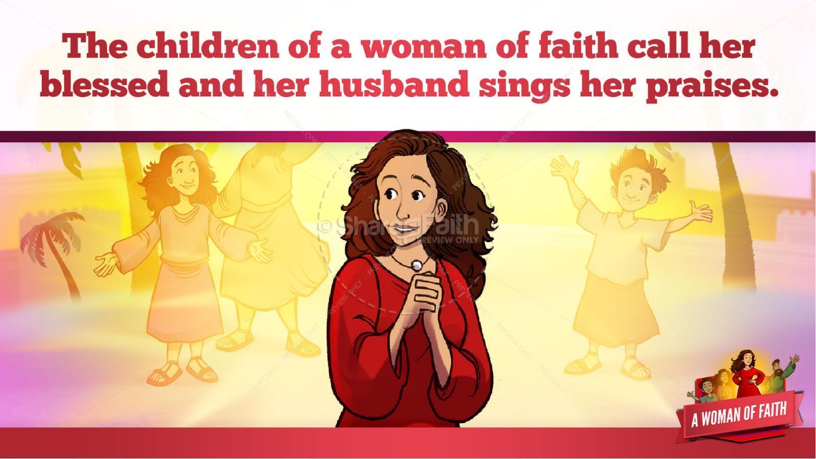 Proverbs 31 A Woman of Faith Kids Bible Story   slide 36