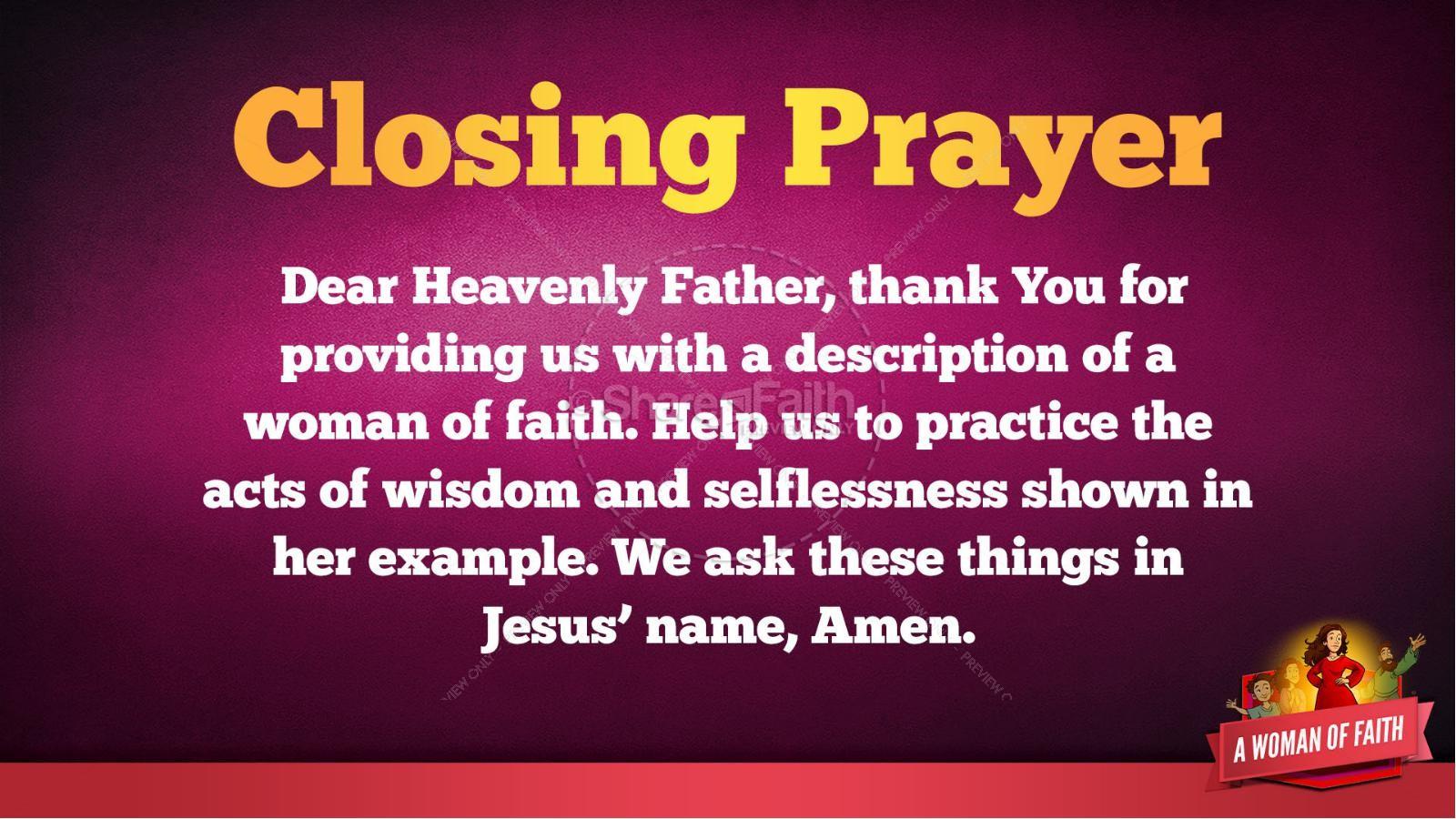 Proverbs 31 A Woman of Faith Kids Bible Story   slide 40