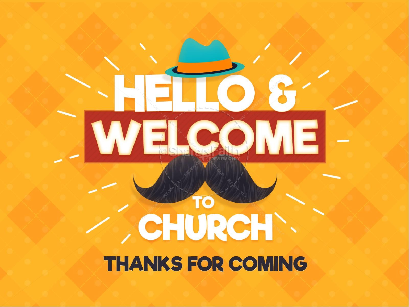 Father's Day Mustache Church Service Graphic | slide 2