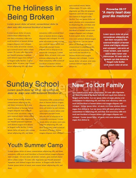 Father's Day Mustache Church Newsletter | page 2
