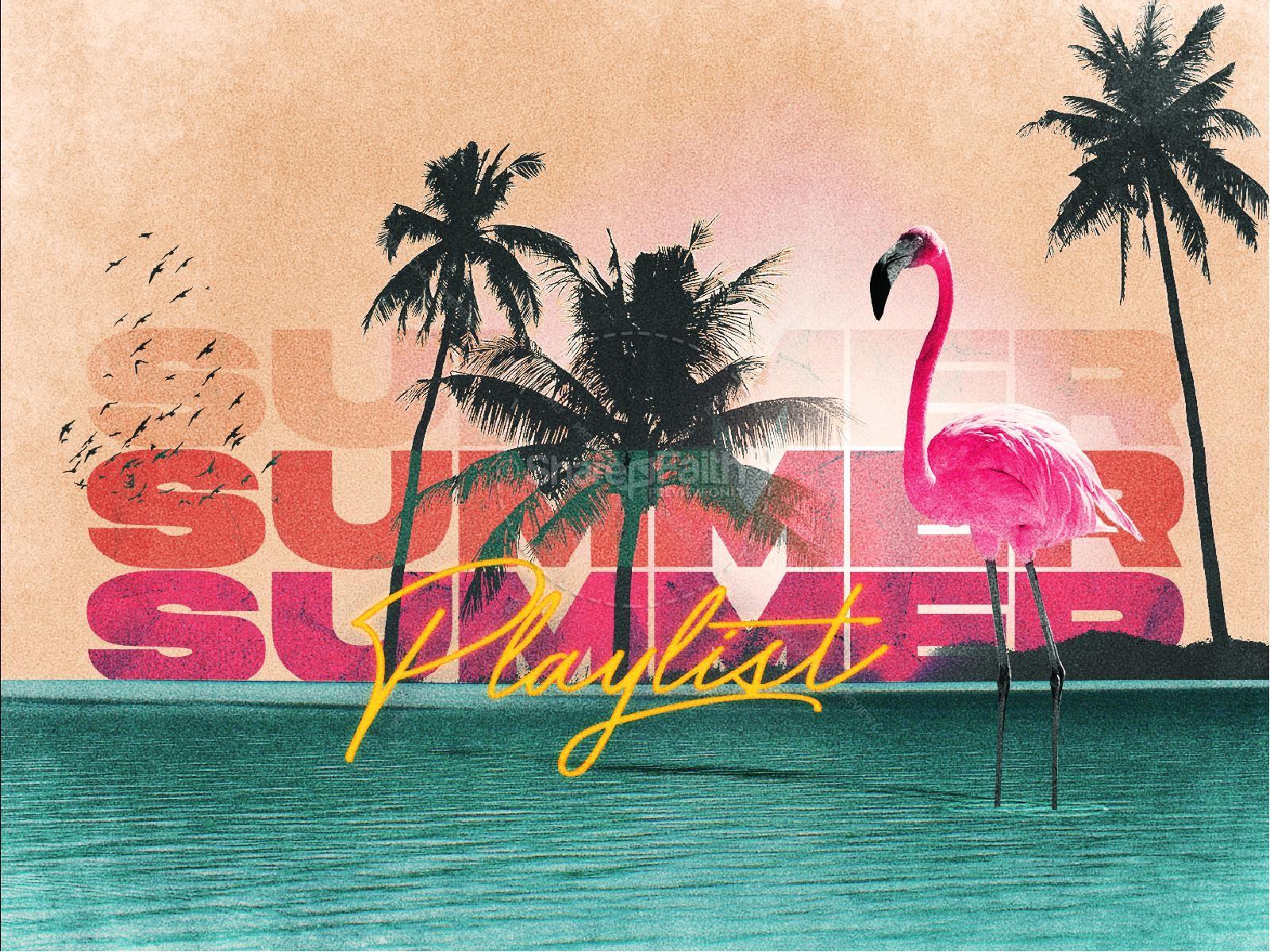 Summer Playlist Church Title Graphic | slide 1