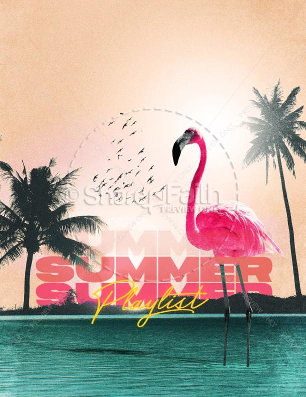Summer Playlist Church Flyer Design | page 1