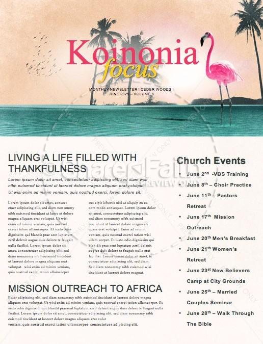 Summer Playlist Church Newsletter | page 1