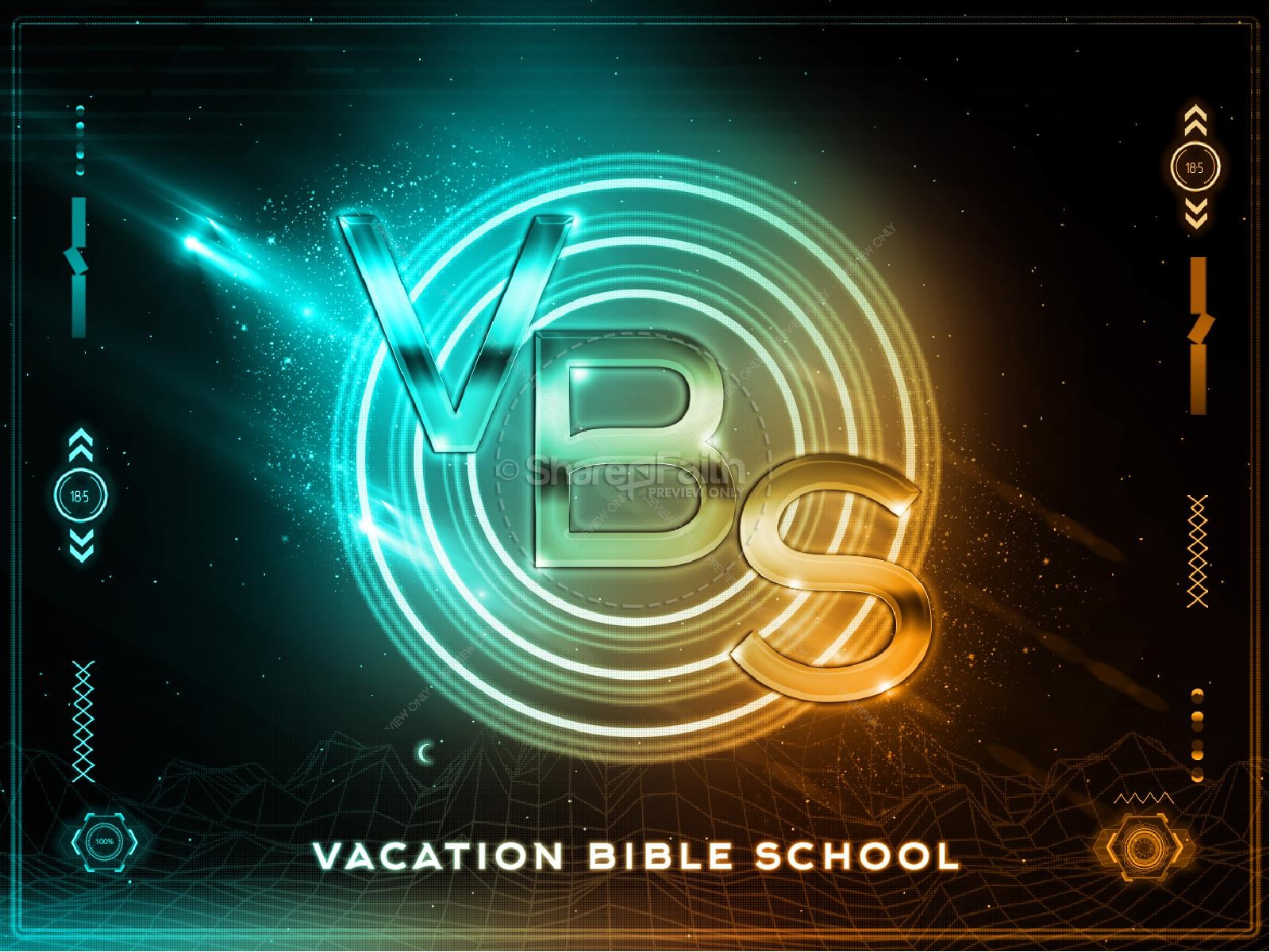 Vacation Bible School Title Graphic | slide 1