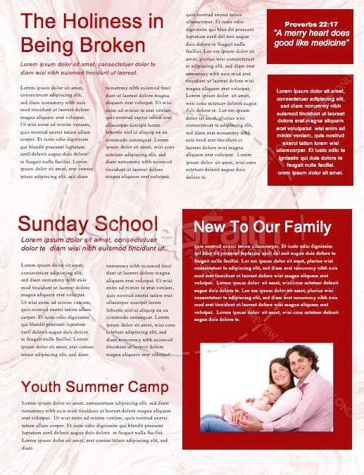 Canada Day Church Newsletter Design | page 2