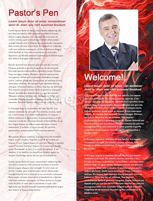 Canada Day Church Newsletter Design | page 3