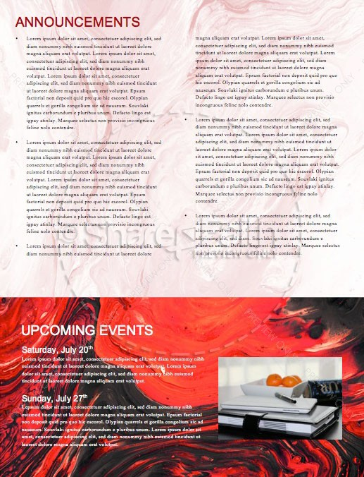 Canada Day Church Newsletter Design   page 4